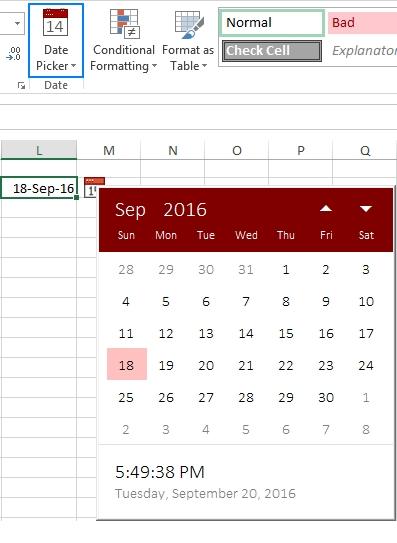 How To Insert Calendar In Excel (Date Picker & Printable throughout How To Add Calendar In Excel