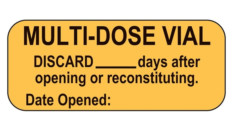 Item 18326 - Multi-Dose Vial Labels inside Free Multi-Dose Vial 28 Day Expiration Calculator Photo