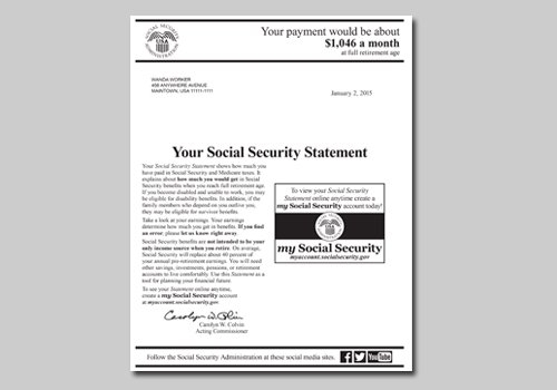 Your Social Security Statement Is Now At Your Fingertips pertaining to Social Security Award Letter Online Photo