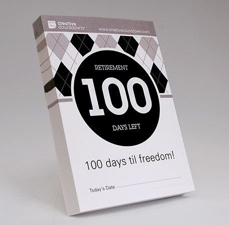 100-Day Countdown To Retirement Tear-Off Calendar | Etsy pertaining to Tear Off Countdown Calendar Image