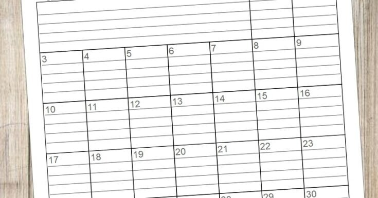 20 Free Printable 2020 Calendars - Lovely Planner inside Printable Monthly Planner With Lines Photo