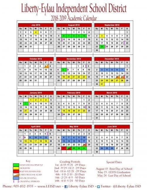 2018-2019 Calendar   Academic Calendar, Social Skills regarding Liberty Academic Calendar