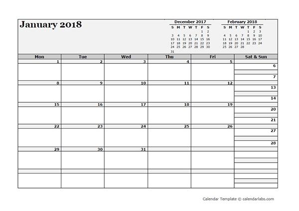 2018 Blank Three Month Calendar - Free Printable Templates in 3 Month Calendar