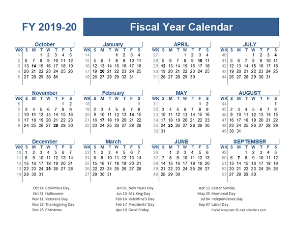 2019-2020 Fiscal Planner Us - Free Printable Templates pertaining to Free Printable Fiscal Calendars Graphics