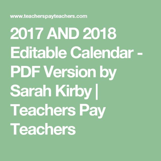 2019 - 2021 Editable Calendar (30 Months) - Pdf Version intended for Free Preschool Calendar Sarah Kirby Graphics