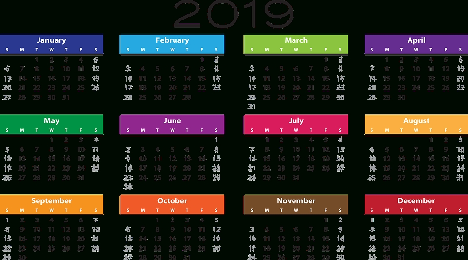 2019 Calendar Png Pic - Social Security Payment Schedule for Calendar For Social Security Payment