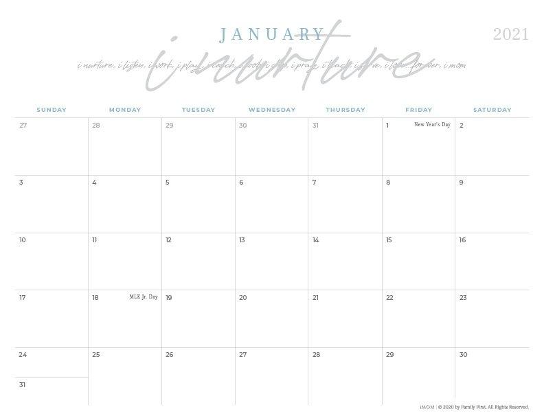 2020 And 2021 Printable Calendars: 10 Free Printable for Imom Calendar Image