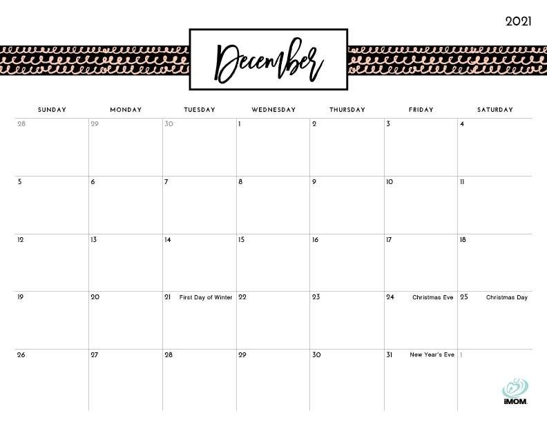 2020 And 2021 Printable Calendars: 10 Free Printable in Imom Calendar