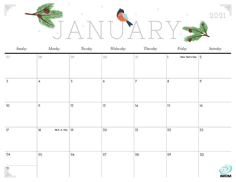 2020 And 2021 Printable Calendars: 10 Free Printable pertaining to Monday To Friday Calendar To Print Out Fall Image