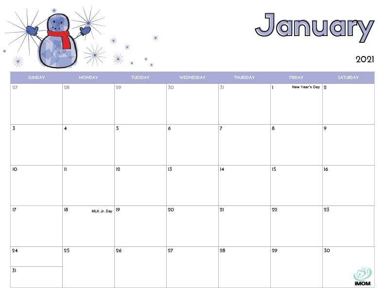 2020 And 2021 Printable Calendars: 10 Free Printable with Imom Calendar Image