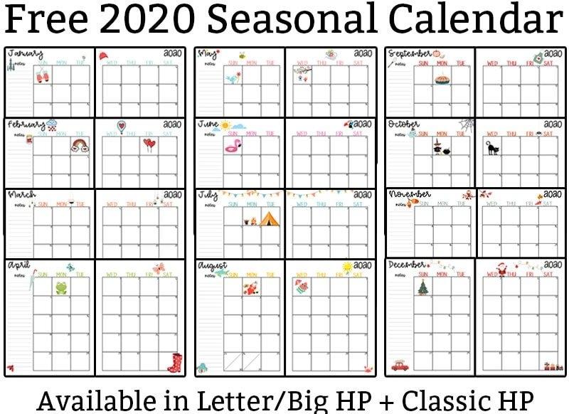 2020 Calendar Printable - Free Printable 2020 Monthly Calendar pertaining to Printable 2020 Calendar With Lines Free Graphics