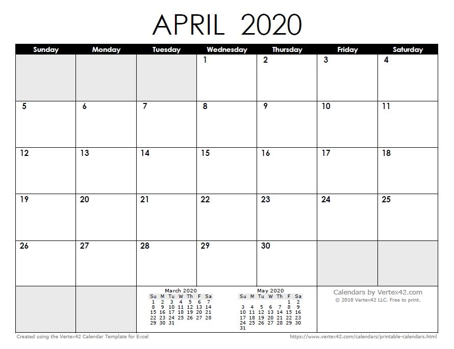 2020 Calendar Templates And Images pertaining to Microsoft Calendar Template 2020