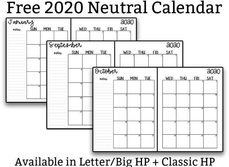 2020 Free Printable Calendars - Over 15 Different Free 2020 regarding Free Pocket Size Calendar Templates Photo