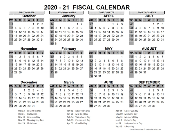 2020 Us Fiscal Year Template - Free Printable Templates throughout Free Printable Fiscal Calendars