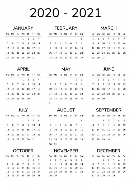 2021-2022 Printable Calendar For 2 Years with regard to Monday To Friday Calendar To Print Out Fall