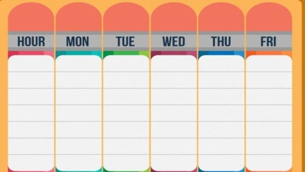 27+ Printable Schedule Templates   Free & Premium Templates within Online Blank Weekly Calendar
