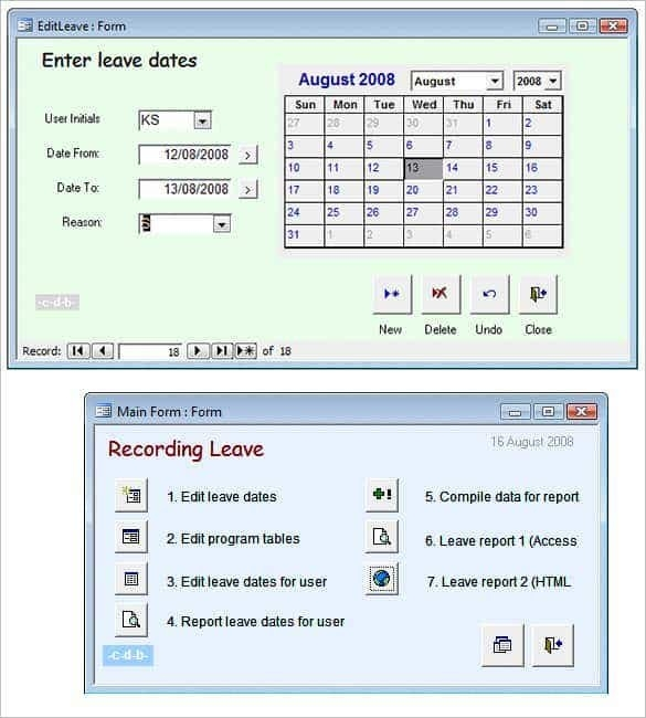 29+ Microsoft Access Templates   Free & Premium Templates for Free Holiday Scheduler Access Database Graphics