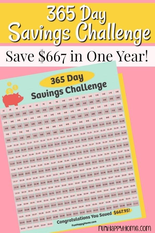 365 Day Penny Saving Challenge: A Free Printable within 365 Day Savings Challenge Calendar Photo