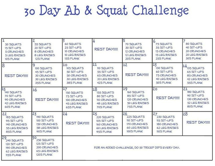 3O Day Ab Squat Challenge Maybe This Might Be Pushing It with regard to 30 Day Ab And Squat Printable Calendar