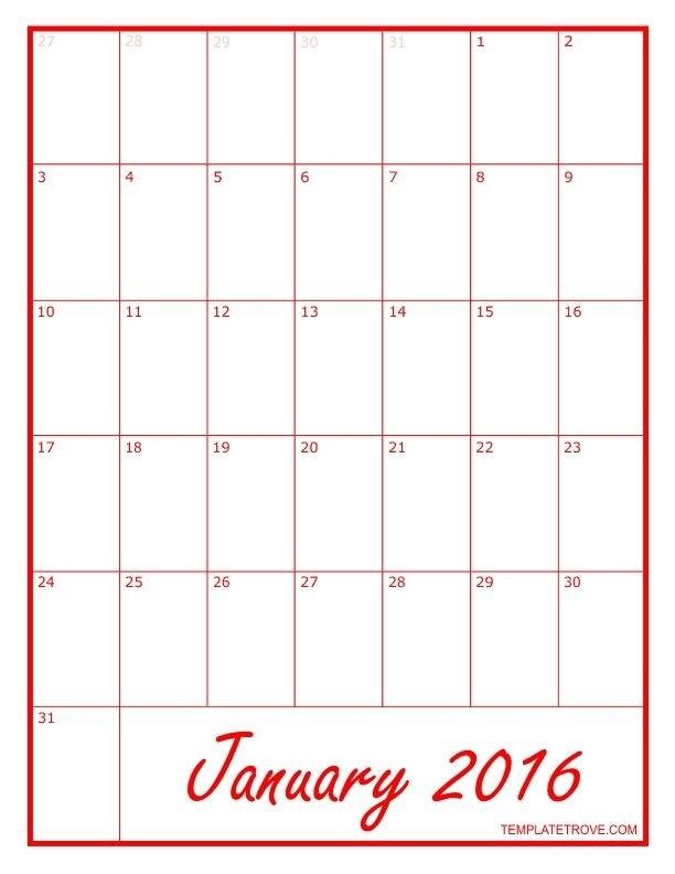 8 1/2 X 11 Blank Calendar Printable Photo In 2020 | Calendar regarding Blank Calendar - 8 1/2 X 11 To Print