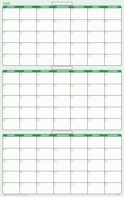 90-Day 3 Month Dry-Erasable Wall Calendar 24 | Calendar with regard to 90 Day On Claendar Photo