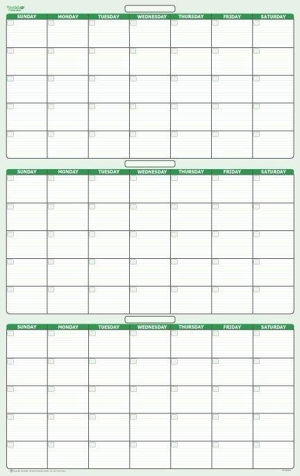 90-Day 3 Month Dry-Erasable Wall Calendar 24 | Calendar within 90 Day Claendar