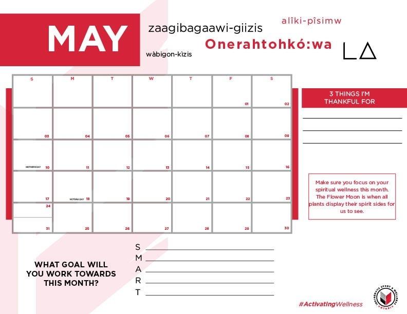 90-Day Calendar - Indigenous Sport & Wellness Ontario intended for 90 Day Claendar Image