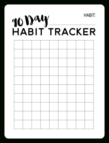 90-Day Habit Tracker Planner Label - Onlinelabels regarding 90 Day On Claendar