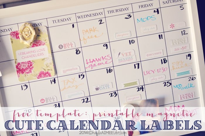 A Diy Holiday Gift   Calendar Sticker Magnets + Free intended for Free Color Coded Calendar Template Photo