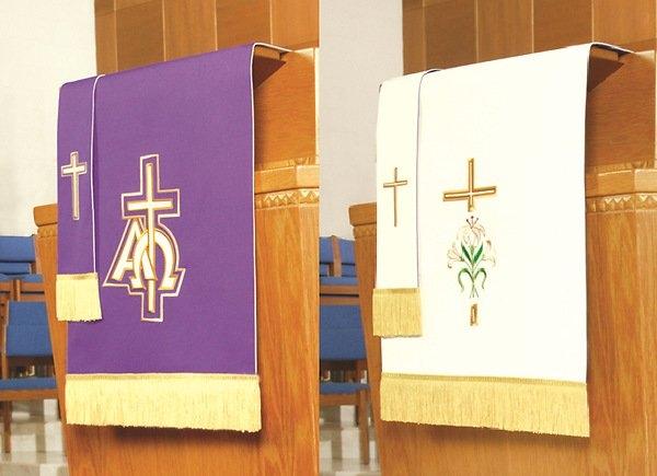 Abbott Hall Reversible Lent/Easter Two-Piece Parament Set regarding Paraments Methodist Image