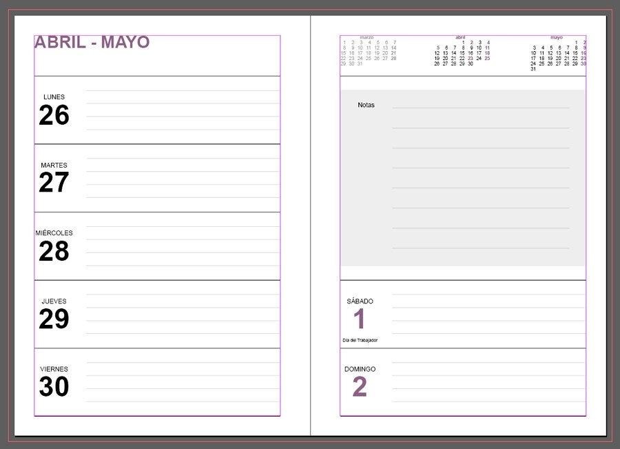 Agendas 2021: Plantillas Indesign Gratis Para Imprimir with regard to Agenda De Trabajo Gratis Image