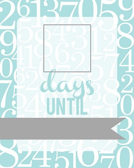 All Things Simple: Free Printable: Countdown Fill-Able Frame with Retirement Countdown Calendars Printable Graphics