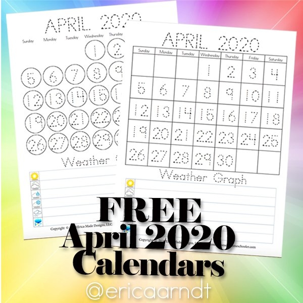 April 2020 Free Printable Calendars - Confessions Of A regarding Fun Free Printable Shorttime Calendars