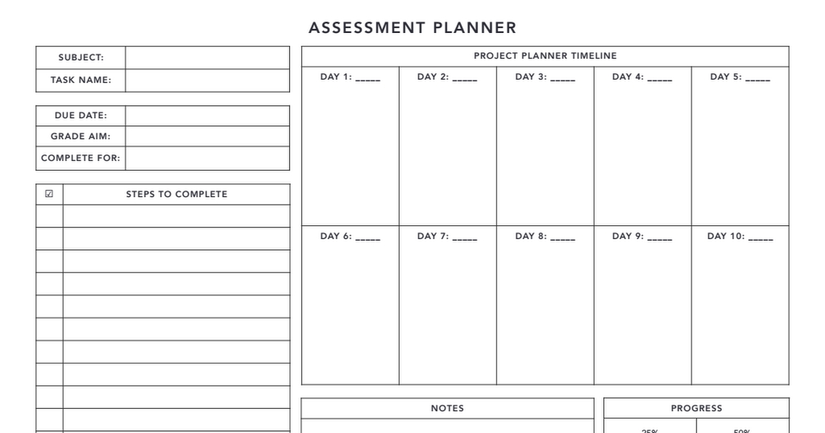 Assessment 10 Days Planner Pdf.pdf | Day Planners, Planner within Template For 10 Days Photo