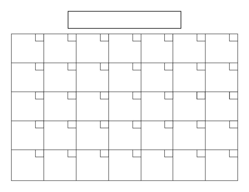 Blank Calander Template Unique Blank #Calendar With 31 Day throughout Empty Calendar Grid 8.5 X 11