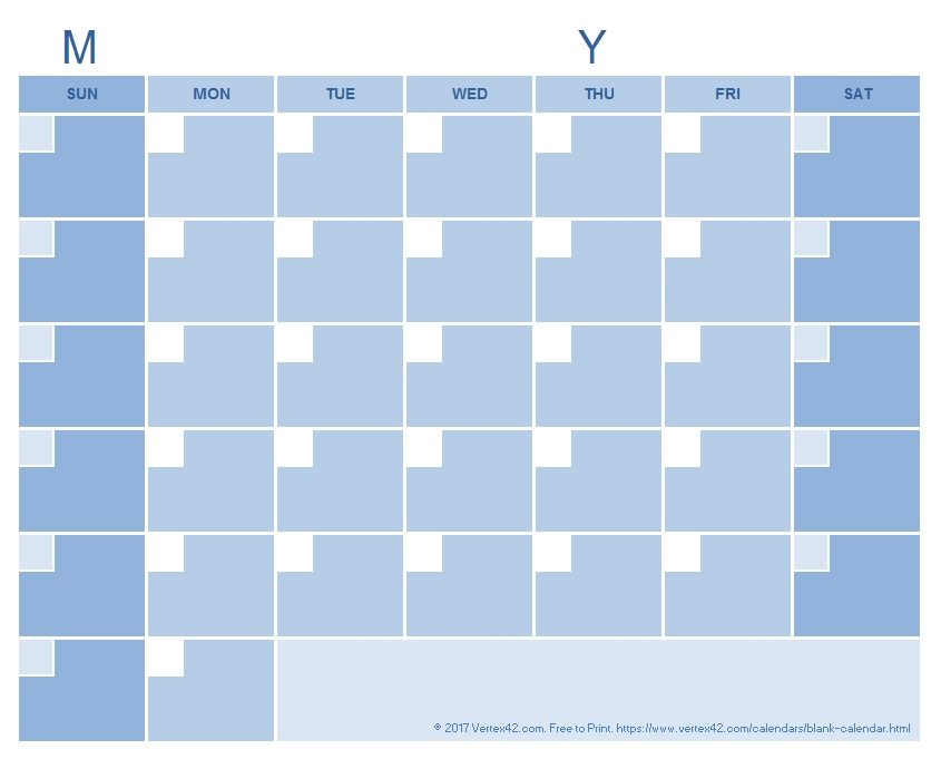 Blank Calendar Template - Free Printable Blank Calendars in 90 Day Blank Calendar Template