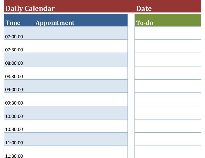 Blank Daily Calendar regarding Single Day Calendar Page Template Graphics