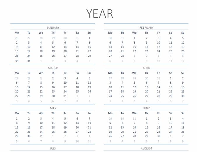 Blank Monthly Calendar regarding 11 X 17 Lank Calendar Image