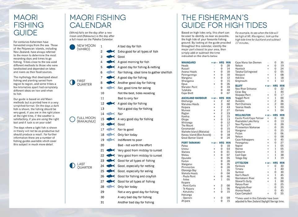 Blueocean Calendars in Lunar Fishing Calendar 2020 Photo