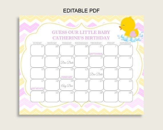 Blush Pink & Gold Glitter Dots Printable Baby Due Date with regard to Baby Due Date Calendar Printable Graphics