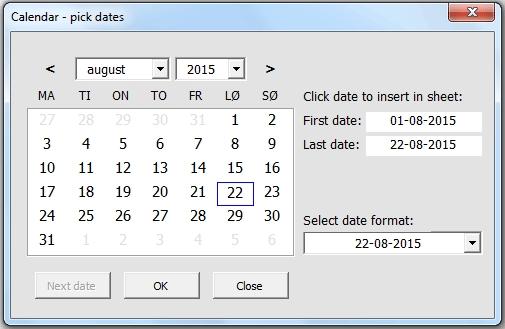 Calendar And Date Picker On Userform - Vba Only, No Activex regarding Excel User Form Calendar
