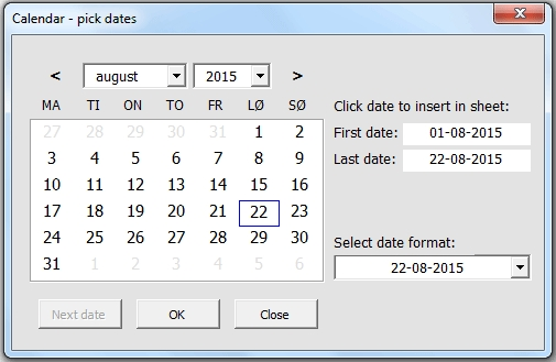 Calendar And Date Picker On Userform - Vba Only, No Activex regarding Vba Userform Calendar