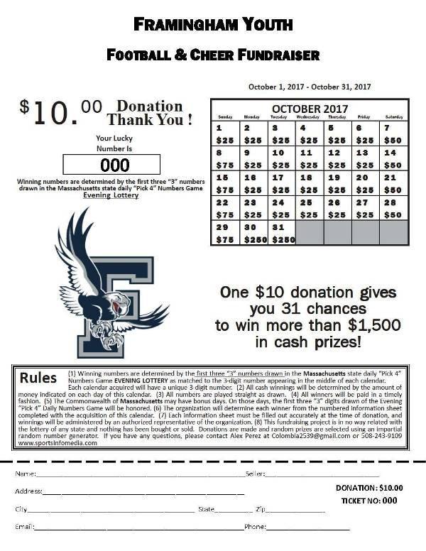 Calendar Fundraising Kit throughout Lottery Fundraiser Calendar Image