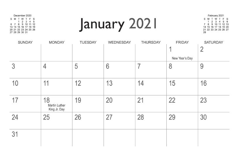 Calendar Templates | Printingcenterusa intended for 8.5X 10 Free February Blank Calendar