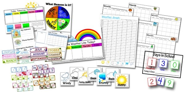 Calendar Time Printables! - Confessions Of A Homeschooler throughout Fun Free Printable Shorttime Calendars