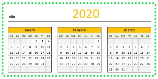 Calendario 2020 Excel Descargalo Ahora - Aplica Excel Contable for Agenda Calendario En Excel Gratis Image