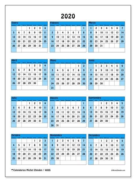 Calendario 2020 Por Semanas Para Imprimir - Calendario 2019 in Calendario De Semanas