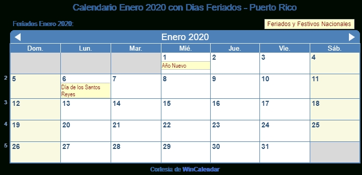 Calendario 2020 Puerto Rico Dias Feriados - Calendario 2019 throughout Calendarios Y Agendas De Puertorico Graphics