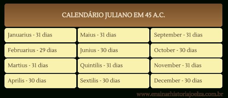 Calendário Gregoriano: O Tempo Decretado Pelo Papa regarding Dias Julianos