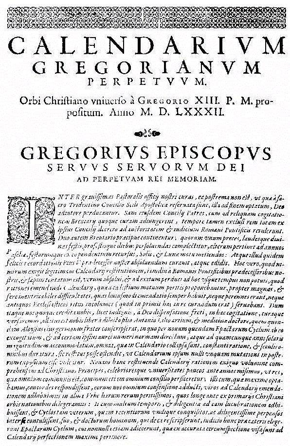 Calendario Gregoriano - Wikipedia for Calendario Giouliaon